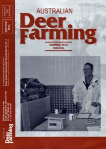 Australian Deer Farming Magazine Cover 2012 02