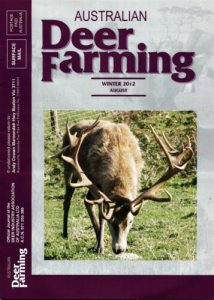 Australian Deer Farming Magazine cover 2012 08