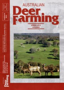 Australian Deer Farming Magazine cover 2012 11