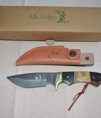 Elk Ridge Burlwood Full Tang Drop Point Bowie Knife