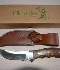 Elk Ridge - Burlwood Upswept Bowie / Skinner Knife