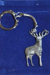 fine english pewter stag lovers keyring