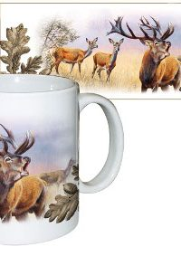 wildzone red deer ceramic mug
